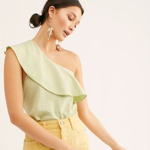 NWT free people happy hour one shoulder bodysuit